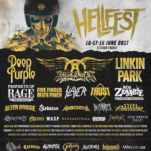 Press accreditation confirmed for Hellfest 2017 aerosmith deeppurple linkinpark inflameshellip