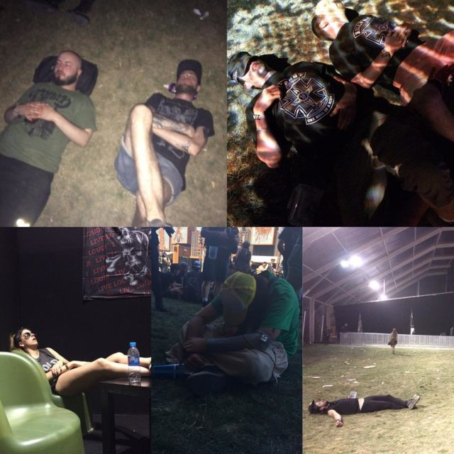 Sleeping marathon at hellfest2017 hellfest