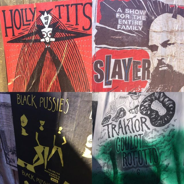 Posters of Hellfest hellfest hellfest2017 poster hollytits slayer blackpussies