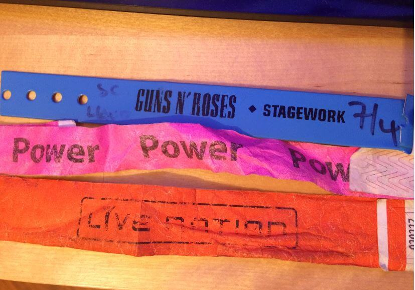 Photo of Guns N' Roses Roadie Wristbands